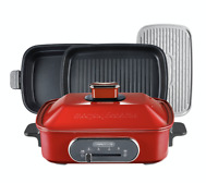Morphy Richards Multi Function Grill Cooking Pot Flame Red