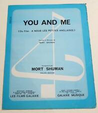 Partition vintage sheet music MORT SHUMAN : You and Me * 70's