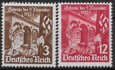 Germany Third Reich Mi# 598-599 MH Anniversary of 1st Hitler Putsch 1935 *