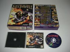FULL THROTTLE Pc Cd Rom Lucas Arts Original BIG BOX - FAST SECURE POST