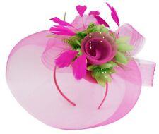 Bespoke Feather Hair Fascinator Hat Veil Headband Clip Wedding Ascot Races