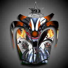 Arctic Cat ZR 600, 500, 800 Mountain Cat Graphics Wrap Evil Joker Hood Orange
