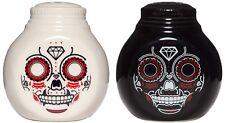 Sourpuss Sugar Skull Salt & Pepper shaker sal y pimienta agitador Día de los Mue