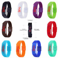 Fashion Sports Watches Rubber Silicon Bands for Men Women Teens Students kids Uk