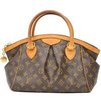 Louis Vuitton Tivoli PM M40143 Monogram Hand Tote Bag Purse Brown Gold France LV