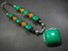 N4603 Multi Color Resin Beads Bone Tribal Handmade Pendant BOHO Necklace Fashion