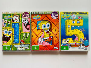 SPONGEBOB SQUAREPANTS Complete Season 1, 2, 4 & 5 Kids Cartoon Series Bundle
