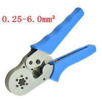 Terminal Crimping Tool Adjustable Ratcheting Ferrule Wire End Cord Crimper Plier