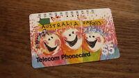 OLD AUSTRALIAN TELECOM PHONECARD, $5 AUSTRALIA DAY