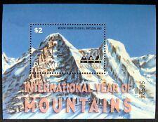 2002 MNH PALAU YEAR OF THE MOUNTAINS STAMP SOUVENIR SHEET LANDSCAPE MT EIGER