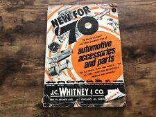 Vintage JC WHITNEY & CO Catalog 1970 Automotive Accessories Auto Parts #274