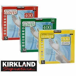 400 Kirkland Disposable Nitrile Exam Safety Gloves Kitchen Housekeeping S/M/L