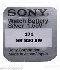 10 x Sony  371 SR69 1,5V V371 SR 69 Knopfbatterie SR920SW AG6 UHRENBATTERIE