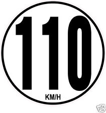 1 Limitation de Vitesse Autocars Tracteur Poids lourd 110KM/H adhésifs