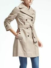 Banana Republic Double-Breasted Belted Trench,Golden beige Size ST   #580776 v7
