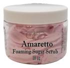 AMARETTO Cherry Almond Exfoliating Foaming Sugar Body Scrub, 10 oz jar