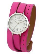 Vernier Women's Pink Triple Wrap Stylish Strap Watch