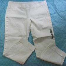 WOMENS off white PANTS = NEW YORK & CO = SIZE 14 = NEW slim low rise = ss24