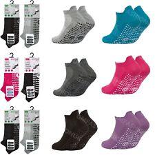3 Pairs Ladies OR Mens Sport Gym Yoga Non Slip Gripper Sole Trainer Liner Socks