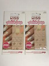 (2) Kiss Polish Pop Nail Art Elegant Embelleshment Wisteria Lane NPOP02106