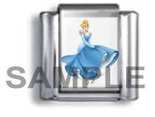 PRINCESS CINDERELLA 9MM ITALIAN PHOTO CHARM LINK fairytale fairy believe love