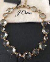 NWT J.Crew Round-cut glass Flax Necklace