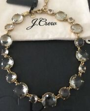 NWT J.Crew Round-cut glass Flax Necklace