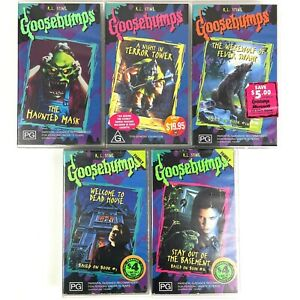 90's Goosebumps VHS Tapes X 5 Including RARE Titles - Bulk Lot RL STINE