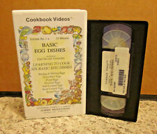 BASIC EGG DISHES recipes VHS chef Harold Alexander cooking video Poached & Fried