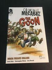CRIMINAL MACABRE /THE GOON WHEN FREAKS COLLIDE ONE-SHOT 2011 DARK HORSE NM