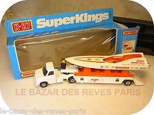 MATCHBOX SUPER KINGS   FORD semi porte bateau + boite