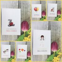 10X Personalised Both Side Birthday Party Thank You Cards Girls Boys Children 9i