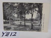 VINTAGE POSTED POSTCARD STAMP 1909 THE COLUMBIA PARK PICTURE LAYETTE INDIANA IN.