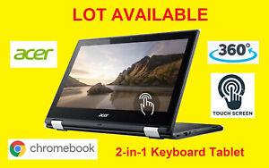 "🍀 LOT! Acer Chromebook N15Q8 C738T 11.6"" Quad N3150 4GB 16GB SSD Touch Screen"