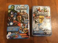 1 Marvel Avengers Assemble Playing Card Games Super Set & Avengers War&Mummy Set