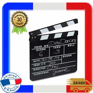 Relaxdays, Noir Clap de Cinéma Hollywood Film Clapet Scène Inscription Déco H