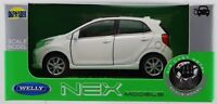WELLY KIA NEW PICANTO WHITE 1:34 DIE CAST METAL NEW IN BOX