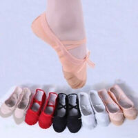 Girl Adult Soft Canvas Ballet Dance Shoes Slippers Pointe Dance Gymnastics Fancy