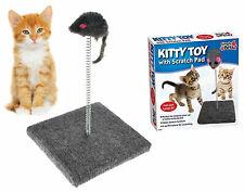 Cat Scratching Post Pole Pad Scratch Scratcher Play Stand Toy Ball Kitten 586