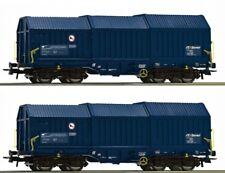 ROCO 76446 2-tlg SetTeleskophaubenwagen, ZSSK Cargo Gleichstrom DC Spur H0 NEU