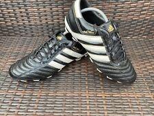 Adidas Adi Nova Black Leather Football Boots Size UK 11 Excellent Condition