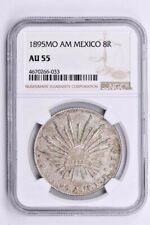 1895MO AM Mexico 8 Reales NGC AU 55 Witter Coin