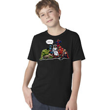 And That's How I Saved The World Jesus Avengers Superheroes Youth T-Shirt A