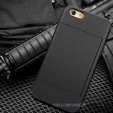 """For iphone 6+ 6S Plus 5.5"""" Stand Card Wallet Hard Rubber Armor Case Shockproof"""
