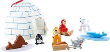 Juego mundo esquimal madera sustancia iglú-carpa juguetes juguetes con nombre
