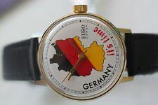GREAT GERMAN GOLD-PLATED EURO CHRON UMF RUHLA WATCH