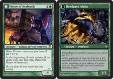 1x Mayor of Avabruck // Howlpack Alpha Light Play, English Innistrad MTG Magic