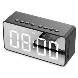Alarm Clock, FM Radio, Bluetooth Speaker, Portable - Nightstand Display Clock