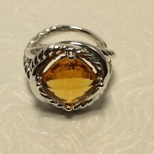 DAVID YURMAN AUTHENTIC 11MM STERLING SIVER INFINITY Citrine RING SIZE 6.25