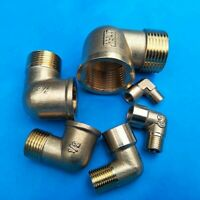 2pcs Brass 1/8~1 In. MIP X FIP Elbow 90-Degree Adapter Male Female Pipe Hardware